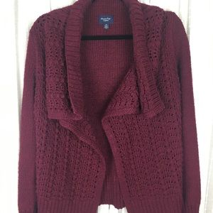 American Eagle Open Front Draped Cardigan